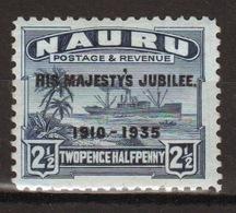Nauru Single 2½d Stamp To Celebrate The 1935 Silver Jubilee. - Nauru