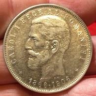 Romania 1866-1914 Carol I 5 Lei 1906 Km#35  D.916 - Rumänien