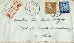 Doc. De  RETIE - A A - Du 05/04/54   En Rec.   Avec Type Poortman Et Lunettes - Postmark Collection