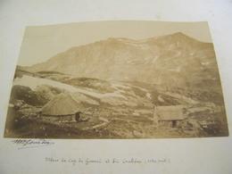 ATTENTION Photo Originale Dédicacée M.Gourdon - Mines De Cap De Guerry Et Pic Crabère (66) - 1884 - SUP - (Ph 65) - Other Municipalities