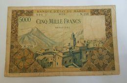5000 FRANCS BANQUE D'ETAT DE MAROC 1953 - Maroc
