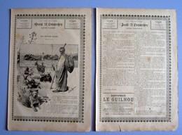 Presse 1889 Les Chèvres Folles Légende Arabe Milianah Ain-Beida Sixte Delorme Chèvre Animal Dentifrice Le Guilhou223CH34 - Alte Papiere