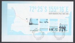 AUSTRALIE AAT 2009 FDC Pôle Sud Magnétique (minisheet) - FDC