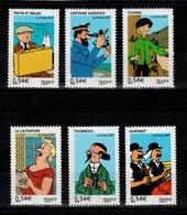YV 4051 à 4056 N** Tintin Complete - Prix = Faciale - France