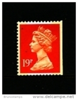 GREAT BRITAIN - 1988  MACHIN   19p.  2B  PERF. 14 IMPERF RIGHT  MINT NH  SG X1052 - Série 'Machin'
