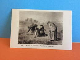 Musée Du Louvre. Millet - Les Glaneuses (Musée Postal Paris) 7.4.1949 - Carte Maxi FDC 1er Jour - 1940-49