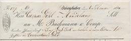 FACTUUR 1840  M.BACHMANN & COMP. KRIEGSHABER NACH HERR CASPAR GOHL IN HINDELANG 4 SCANS - Allemagne