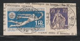 Schweiz / 1934 / Mi. 108 Und 255 Auf Bfst. (BH20) - Switzerland