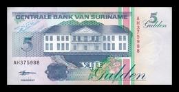 Surinam Suriname 5 Gulden 1998 Pick 136b SC UNC - Surinam