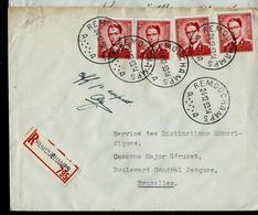 Doc. De REMOUCHAMPS - A A - Du 24/12/53  En Rec. 4 X Lunettes 925 - Postmark Collection