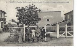 85 - MOUCHAMPS - ( VENDEE ) - T.Belle Vue Animée Du Temple Protestant Bâti En 1806 - France