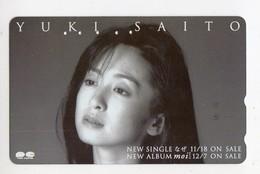 JAPON TELECARTE YUKI SAITO Actrice, Chanteuse Et Poétesse Japonaise - Personen