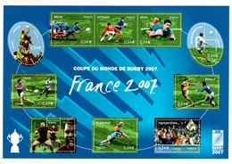 Feuillet YV BF 110 Rugby - Prix = Faciale - Neufs