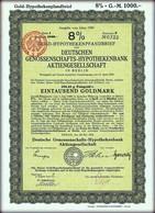 8% Hypothekenpfandbrief 1000 Gold Mark - Berlin 1924 - Weimar Republic Nr 0322 - Vintage Germany Stock Bond - Banque & Assurance
