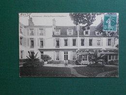 CPA FONTAINEBLEAU HOTEL DE FRANCE ET D ANGLETERRE 1913 EXC ETAT - Fontainebleau