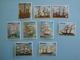 1979 Paraguay Bateaux Yv 1727/33 + PA 828/9 ** MNH  - Michel 3207/15  Ships  Tableau Painting Art - Paraguay