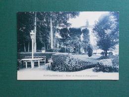 CPA FONTAINEBLEAU HOTEL DE FRANCE ET D ANGLETERRE JARDIN PARC NEUVE SUPERBE - Fontainebleau