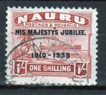 Nauru Single 1/-d Stamp To Celebrate The 1935 Silver Jubilee. - Nauru
