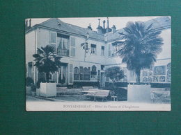 CPA FONTAINEBLEAU HOTEL DE FRANCE ET D ANGLETERRE QQUES LEGERES MARQUES NEUVE - Fontainebleau