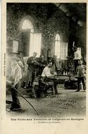 35 LAIGNELET Les Verreries Souffleurs De Verre Gobelets CP Précurseur Cliché Ant 1903 - Autres Communes