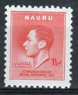 Nauru Single 1½d Stamp From 1937 Coronation Set. - Nauru