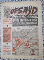 Ofsajd Newspaper , Jugoslavija - Brazil 1 : 1  1954 Lausanne - Livres