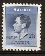 Nauru Single 2½d Stamp From 1937 Coronation Set. - Nauru