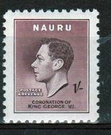 Nauru Single 1/- Stamp From 1937 Coronation Set. - Nauru