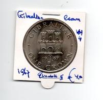 GIBRALTAR CROWN 1967 ELISABETH II - Gibraltar