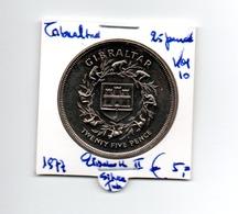GIBRALTAR 25 PENCE 1977 ELISABETH II SILVER JUBILEE - Gibraltar