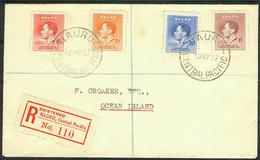 Nauru 1937, Registered FDC Cover To Ocean Island - Nauru