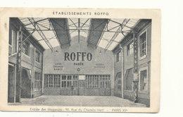 AR 483 /  C PA    - PARIS XI   (75011  ) ETABLISSEMENTS ROFFO  ENTREE DES MAGASINS - Arrondissement: 11