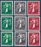 Zumstein 228yR-238yR / Michel 344y-354y Postfrische Serie/** MNH - Unused Stamps