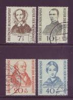 Germania 1955 -  Benefattori Umanità, 4v Annullo Rotondo. Catalogo 45 € - [7] Federal Republic