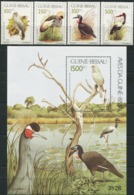 GUINEA-BISSAU 1991 Birds Crane Stork Animals Fauna MNH - Birds
