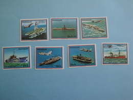 1983  Paraguay Bateaux Yv 2030/6 ** MNH  - Michel 3656/62   Ships Porte-avions - Paraguay