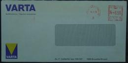 Belgium - Advertising Meter Franking Cover 1976 Varta - Franking Machines