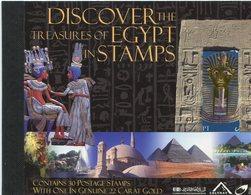 2004 - EGITTO - CARNET - TESORI D'EGITTO - CPL.SET. -  M.N.H.- LUXE !! - Blocs-feuillets