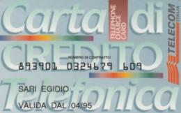 CARTA DI CREDITO TELEFONICA TELECOM ITALIA 4/95 (PY1942 - Italy