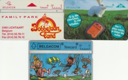 LOT 3 PHONE CARDS BELGIO (PY2011 - Zonder Chip