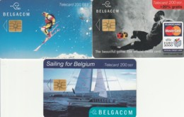 LOT 3 PHONE CARDS BELGIO (PY2015 - België