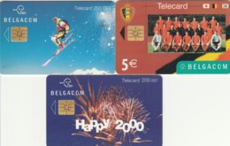 LOT 3 PHONE CARDS BELGIO (PY2018 - België
