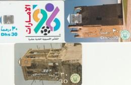 LOT 3 PHONE CARDS EMIRATI ARABI (PY2263 - Emiratos Arábes Unidos