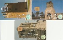 LOT 3 PHONE CARDS EMIRATI ARABI (PY2266 - Emiratos Arábes Unidos