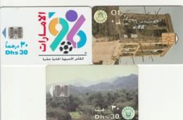 LOT 3 PHONE CARDS EMIRATI ARABI (PY2267 - Emiratos Arábes Unidos