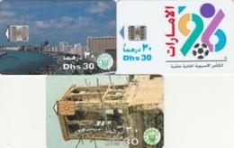 LOT 3 PHONE CARDS EMIRATI ARABI (PY2269 - Emiratos Arábes Unidos