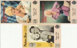 LOT 3 PREPAID PHONE CARDS PERSONAGGI (PY2116 - Personen