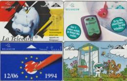 LOT 4 PHONE CARDS BELGIO (PY2014 - Zonder Chip
