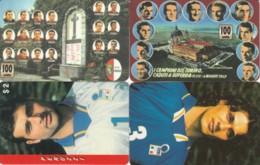 LOT 4 PHONE CARDS CALCIO (PY2285 - Sport