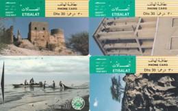 LOT 4 PHONE CARDS EMIRATI ARABI (PY2258 - Emiratos Arábes Unidos